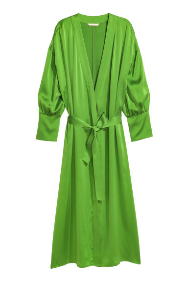 Silk-blend dress - Green - Ladies | H&M