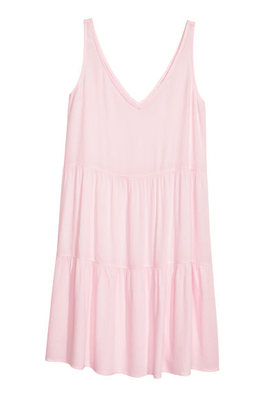 Crêpe dress - Light pink -  | H&M