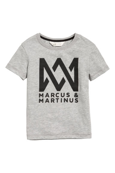 T-shirt avec impression - Gris/Marcus & Martinus - ENFANT | H&M BE
