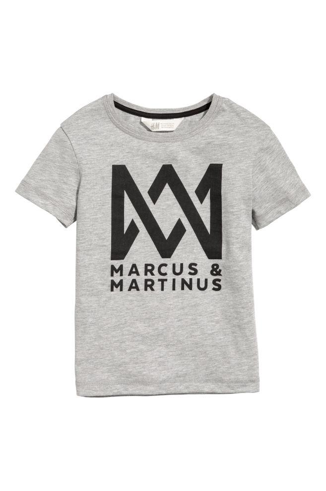 T Shirt Mit Druck Graumarcus Martinus Kids Hm At