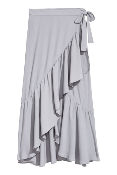 Gonna incrociata a volant - Grigio - DONNA | H&M IT
