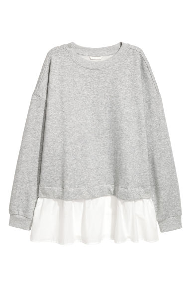 Wide sweatshirt - Light grey - Ladies | H&M