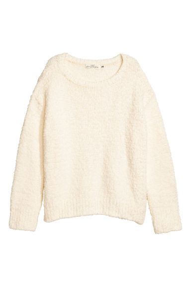 Chenille jumper - Natural white - Ladies | H&M