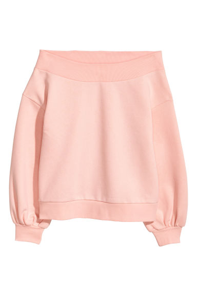 Off-the-shoulder top - Light pink -  | H&M