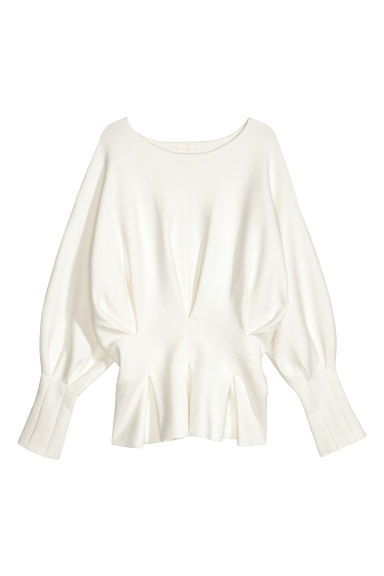 Pleated top - White -  | H&M