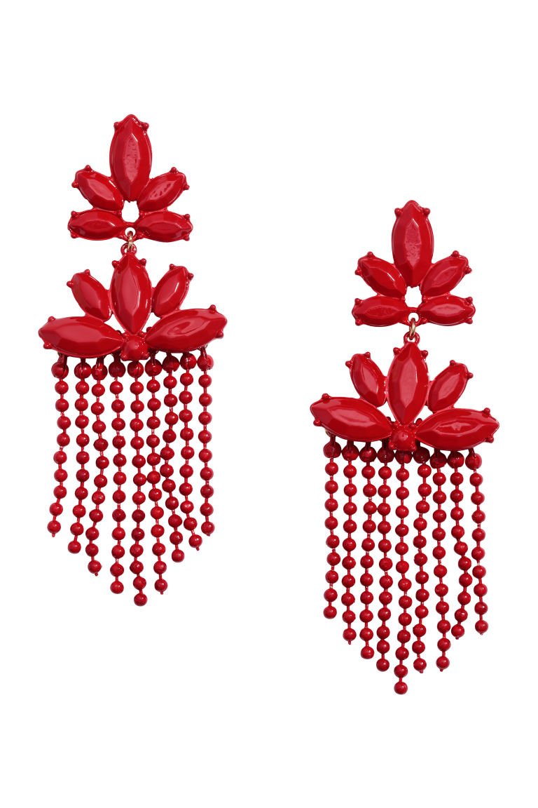 Long Earrings - Red - Ladies | H&M US 1