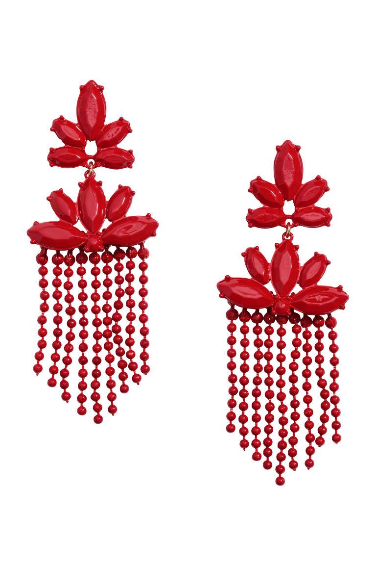 Long Earrings - Red - Ladies | H&M US 1